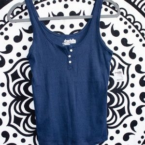 Charlotte Russe- Navy Tank Top w/ Tags attached!